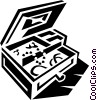 Vector Clipart graphic  of a jewelry box