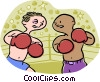 Boxers sparring Vector Clipart graphic