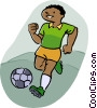 Vector Clipart graphic  of a soccer player