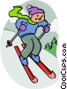 Downhill skiing Vector Clipart picture