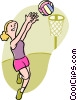 Vector Clipart illustration  of a basketball player