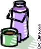 thermos of coffee Vector Clipart image