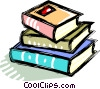 Vector Clip Art picture  of a Stack of books