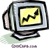 Vector Clip Art image  of a monitor