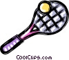 tennis racket and ball Vector Clipart picture