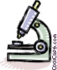 Vector Clip Art graphic  of a microscope