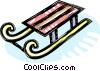 sled Vector Clipart illustration