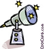 Vector Clipart image  of a telescope