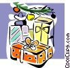 Vector Clipart graphic  of a Christmas presents