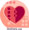 Vector Clipart picture  of a heart