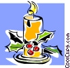 Vector Clip Art image  of a Christmas candle