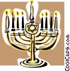 Vector Clip Art picture  of a menorah