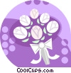 Wedding flowers Vector Clipart illustration