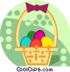 Easter basket with eggs Vector Clip Art picture