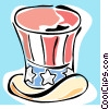 Vector Clipart picture  of a uncle Sam's hat