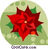Vector Clip Art picture  of a poinsettia