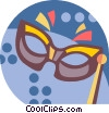 Vector Clipart picture  of a mardi gras mask