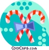 Vector Clipart illustration  of a candy canes