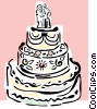 Wedding cakes Vector Clipart illustration
