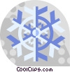 Vector Clip Art picture  of a snow flake