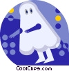 ghost costume Vector Clipart illustration