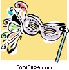 Vector Clipart illustration  of a mardi gras mask