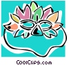 Vector Clipart graphic  of a mardi gras mask