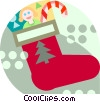 Vector Clip Art picture  of a Christmas stocking