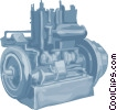 Vector Clip Art graphic  of a Industrial engine