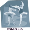 Vector Clip Art image  of a ballet dancers