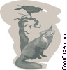 fox and raven Vector Clip Art picture