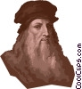 Vector Clip Art picture  of a Leonardo da Vinci