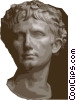 Caesar Augustus Vector Clipart illustration