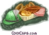 Vector Clipart illustration  of a hat with pastry