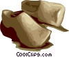 wooden shoes Vector Clip Art image