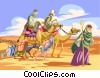 Vector Clip Art graphic  of a Moses leads his People