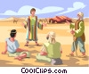 Joseph and his multi-colored coat Vector Clip Art picture