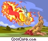 Vector Clip Art image  of a Elijah's Fire