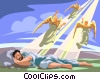 Vector Clip Art graphic  of a Jacob's Ladder
