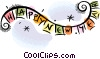 Vector Clipart graphic  of a New Year's banner