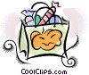 Vector Clipart graphic  of a Halloween candy