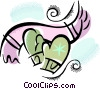 Vector Clip Art picture  of a mittens and scarf