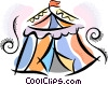 Vector Clipart graphic  of a circus tent