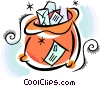 Vector Clipart picture  of a sack of mail