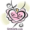 Vector Clip Art image  of a valentines day heart