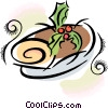 Vector Clipart graphic  of a Yule log