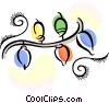 Vector Clip Art image  of a Christmas lights