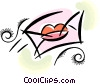 Vector Clip Art picture  of a letter sealed with a kiss
