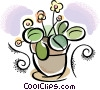 Vector Clip Art graphic  of a flowers in a pot