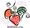 strawberries Vector Clip Art graphic
